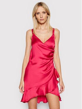 Guess Guess Koktel haljina W1GK0W WCUN0 Ružičasta Slim Fit