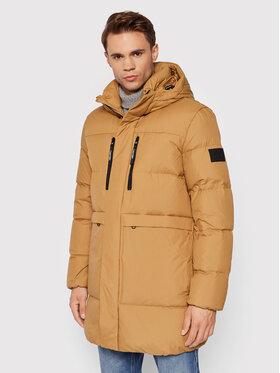 Calvin Klein Calvin Klein Пухено яке K10K107489 Кафяв Regular Fit