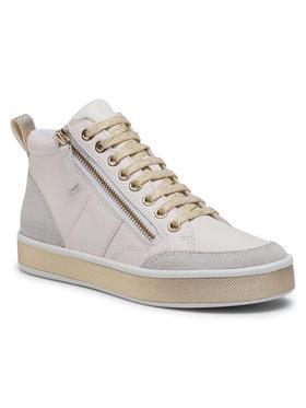 Geox Geox Sneakersy D Leelu' G D94FFG 08522 C1000 Bílá