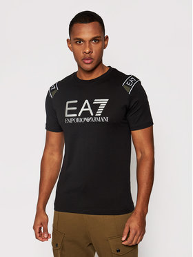 EA7 Emporio Armani EA7 Emporio Armani T-Shirt 6HPT58 PJM9Z 1200 Czarny Regular Fit