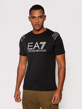 EA7 Emporio Armani EA7 Emporio Armani T-Shirt 6HPT58 PJM9Z 1200 Schwarz Regular Fit
