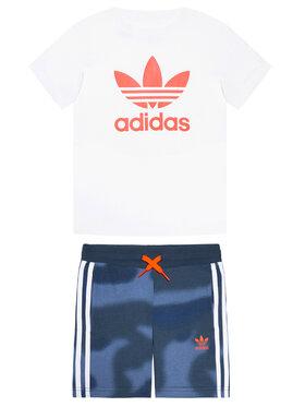 adidas adidas Komplet t-shirt i spodenki Camo Print GN4123 Kolorowy Regular Fit
