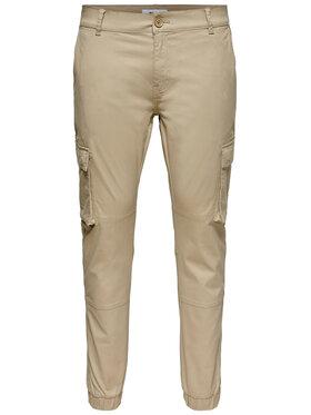 Only & Sons ONLY & SONS Kalhoty z materiálu Cam Stage 22016687 Béžová Regular Fit