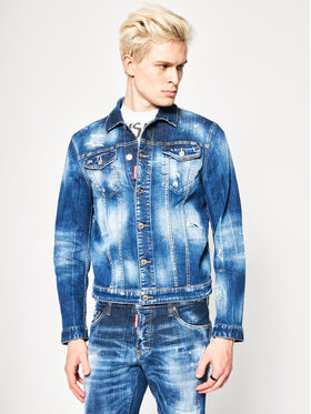 Dsquared2 Dsquared2 Veste en jean Macchia Dan Denim S74AM1027.S30342 Bleu marine Regular Fit