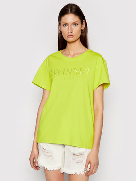 TWINSET TWINSET Тишърт 211TT2230 Зелен Relaxed Fit