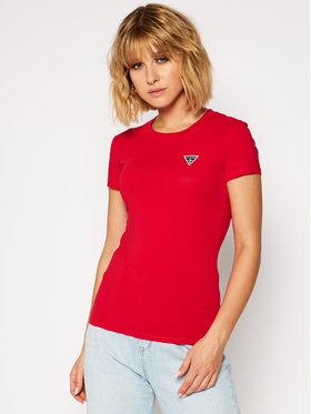 Guess Guess T-shirt Mini Triangle Tee W0BI19 J1311 Rosso Slim Fit
