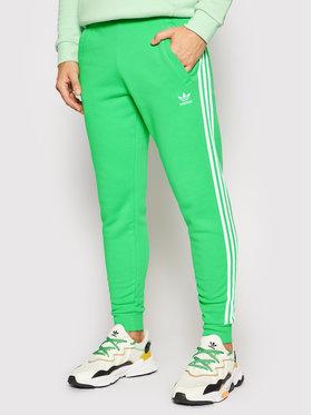 adidas adidas Sportinės kelnės adicolor Classics 3-Stripes H06686 Žalia Slim Fit