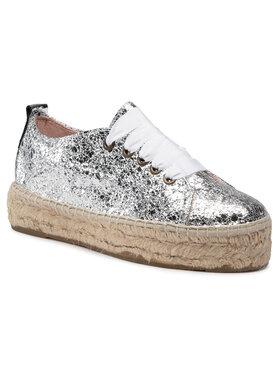 Manebi Manebi Espadryle Sneakers D G 0.3 E0 Srebrny