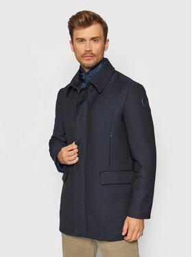 Trussardi Trussardi Вълнено палто 52S00623 Тъмносин Regular Fit