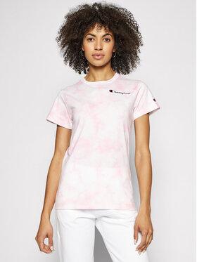 Champion Champion T-shirt Tie Dye Digital Print 113939 Rosa Custom Fit