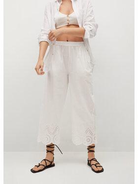 Mango Mango Pantaloni culotte Lolo 87019204 Alb Regular Fit