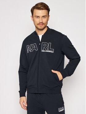 KARL LAGERFELD KARL LAGERFELD Majica dugih rukava Sweat Zip 705034 511902 Tamnoplava Regular Fit