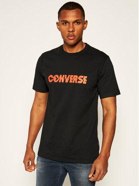 Converse Converse Póló Table Tee 10019599-A02 Fekete Regular Fit