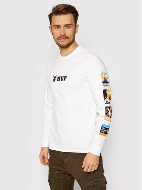 HUF HUF Тениска с дълъг ръкав PLAYBOY Club TS01460 Бял Regular Fit