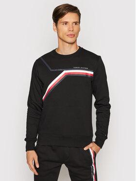 Tommy Hilfiger Tommy Hilfiger Bluza Split Corp Stripe MW0MW21116 Czarny Regular Fit