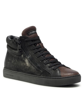 Crime London Crime London Sneakers High Top Double Zip 11687AA3.20 Negru