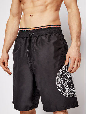 Versace Versace Pantaloncini da bagno ABU13010 Nero Regular Fit