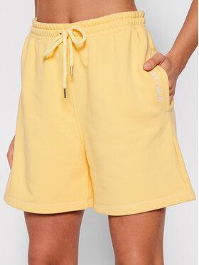 PLNY LALA PLNY LALA Sportske kratke hlače Shorty PL-SI-SH-00009 Žuta Loose Fit