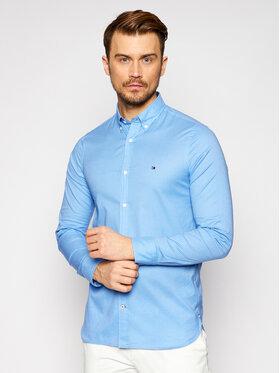Tommy Hilfiger Tommy Hilfiger Marškiniai Flex Fake Solid MW0MW17575 Mėlyna Slim Fit