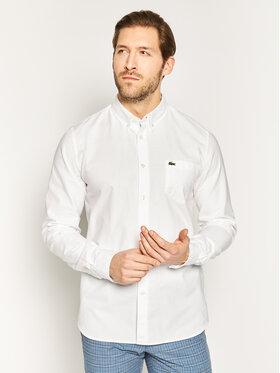 Lacoste Lacoste Πουκάμισο CH4976 Λευκό Regular Fit