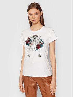 Liu Jo Liu Jo T-shirt WF1380 J9944 Bijela Regular Fit