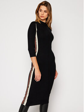 Elisabetta Franchi Elisabetta Franchi Плетена рокля AM-42S-06E2-V289 Черен Slim Fit