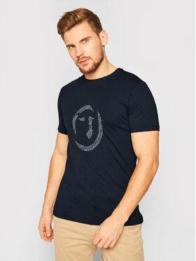Trussardi Trussardi T-Shirt 52T00368 Granatowy Regular Fit