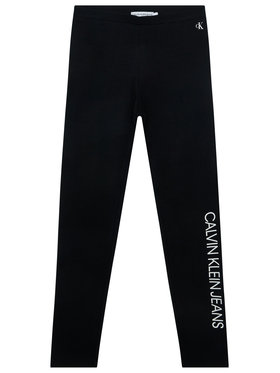 Calvin Klein Jeans Calvin Klein Jeans Legíny Institutional IG0IG00559 Černá Slim Fit