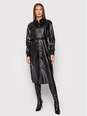 DKNY DKNY Sukienka z imitacji skóry P1HM7K25 Czarny Regular Fit