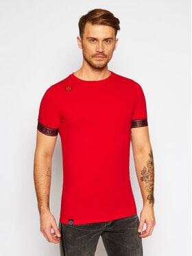 Rage Age Rage Age T-Shirt Imperial 3 Czerwony Slim Fit