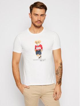 Polo Ralph Lauren Polo Ralph Lauren T-Shirt Ssl 710803488002 Bílá Slim Fit