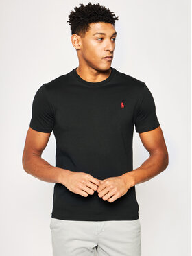 Polo Ralph Lauren Polo Ralph Lauren T-Shirt Bsr 710680785 Μαύρο Custom Slim Fit