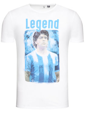 Only & Sons ONLY & SONS Tricou Diego Maradona 22021552 Alb Regular Fit