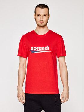 Sprandi Sprandi T-Shirt SS21-TSM005 Czerwony Regular Fit