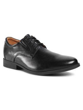 Clarks Clarks Pantofi Whiddon Plain 261529187 Negru