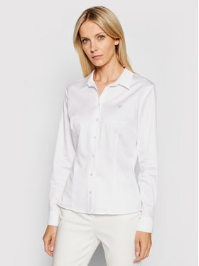 Guess Guess Chemise Cate W1RH41 WAF10 Blanc Slim Fit