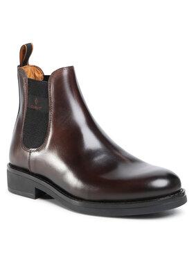 Gant Gant Členková obuv s elastickým prvkom Brookly 21651011 Hnedá