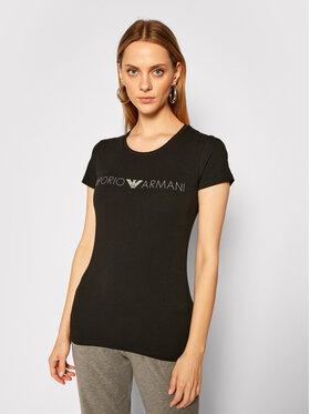 Emporio Armani Underwear Emporio Armani Underwear Póló 163139 0A317 00020 Fekete Slim Fit