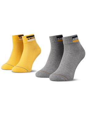 Levi's® Levi's® Set di 2 paia di calzini corti unisex 37157-0145 Giallo