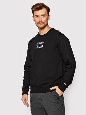 Tommy Jeans Tommy Jeans Pulóver Tjm Essential Crew DM0DM10910 Fekete Regular Fit
