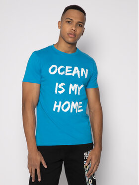 Save The Duck Save The Duck T-shirt DT401M JESYX Blu Regular Fit