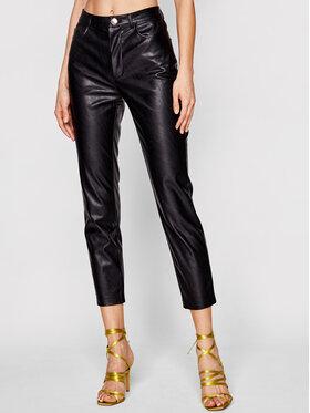 Pinko Pinko Pantalon en cuir Susan PE 21 BLK01 1G15ZV 7105 Noir Slim Fit