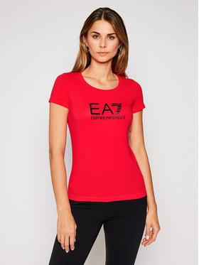 EA7 Emporio Armani EA7 Emporio Armani T-Shirt 8NTT63 TJ12Z 1472 Červená Slim Fit