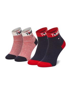 Tommy Hilfiger Tommy Hilfiger Set di 2 paia di calzini lunghi da bambini 100002320 Multicolore