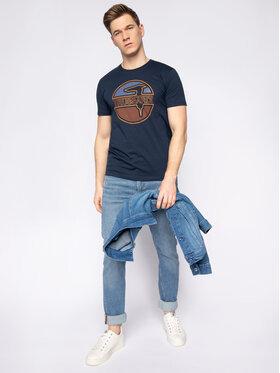 Trussardi Jeans Trussardi Jeans T-Shirt 52T00323 Granatowy Regular Fit