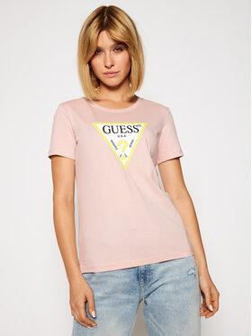 Guess Guess T-shirt Original W0BI25 I3Z11 Ružičasta Regular Fit