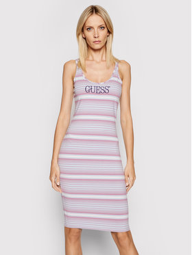 Guess Guess Letné šaty Logo W0GK61 K9RW0 Fialová Slim Fit