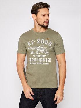 Aeronautica Militare Aeronautica Militare Marškinėliai 211TS1865J512 Žalia Regular Fit