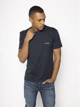 Calvin Klein Calvin Klein T-Shirt Chest Logo K10K104062 Granatowy Regular Fit
