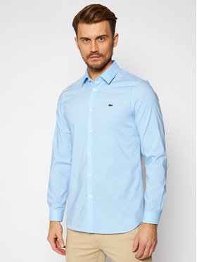 Lacoste Lacoste Košile CH2668 Modrá Slim Fit